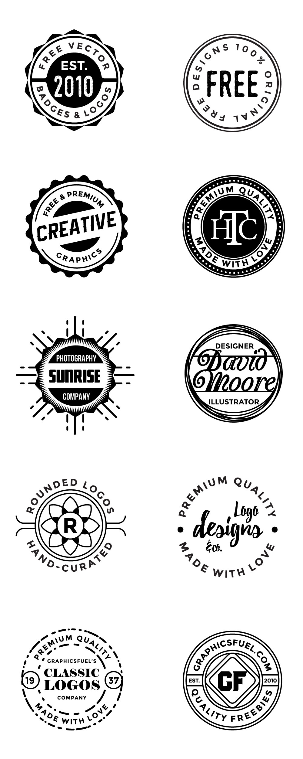 Round Logos and Badges