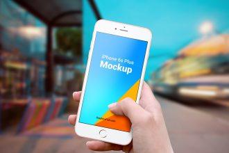 iPhone 6s Plus Outdoor Mockups PSD
