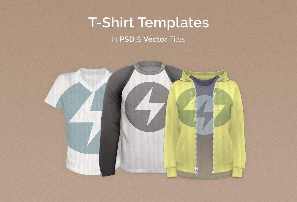 T-Shirt Templates Pack: PSD & Vector Files