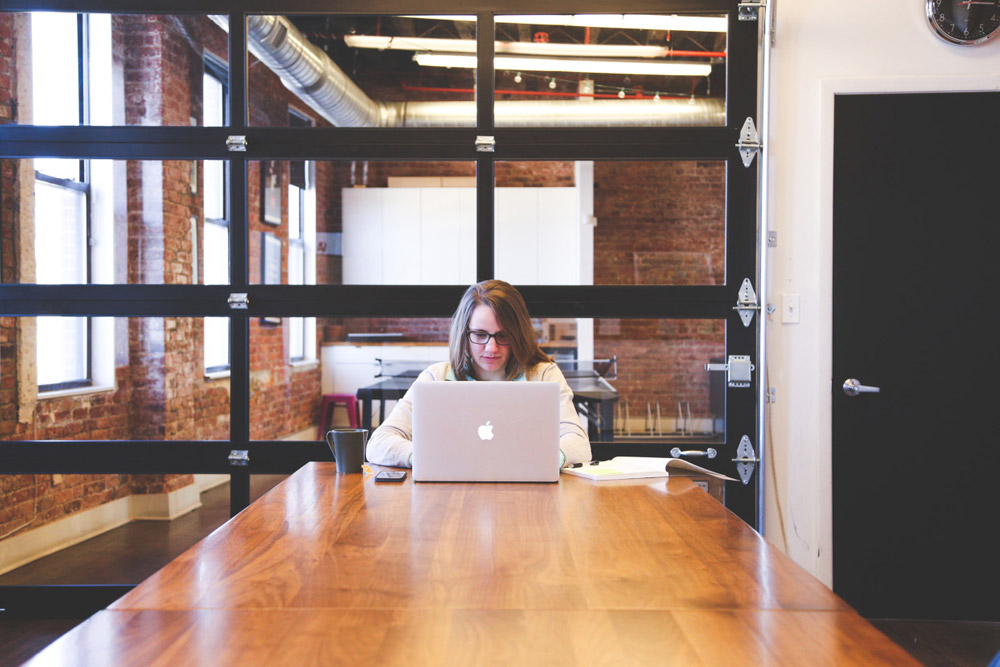 Woman Laptop Office