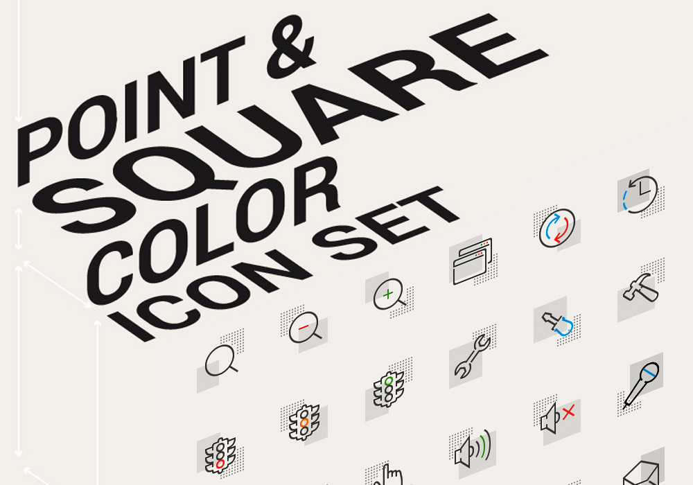 Point & Square Color Icons Pack