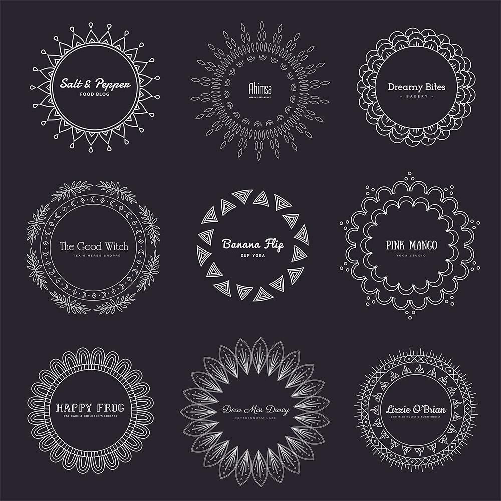 Mandala Free Logos Dark