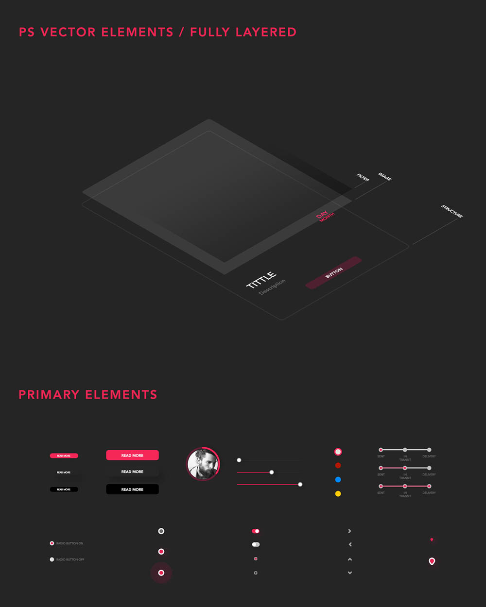 Free UI Kit PSD Elements