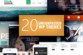 20 Unsurpassed WP Themes