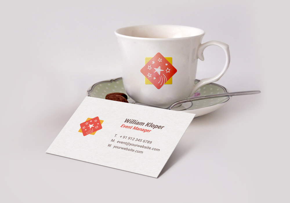 Business card and coffee cup scene mockup psd graphicsfuel wajeb