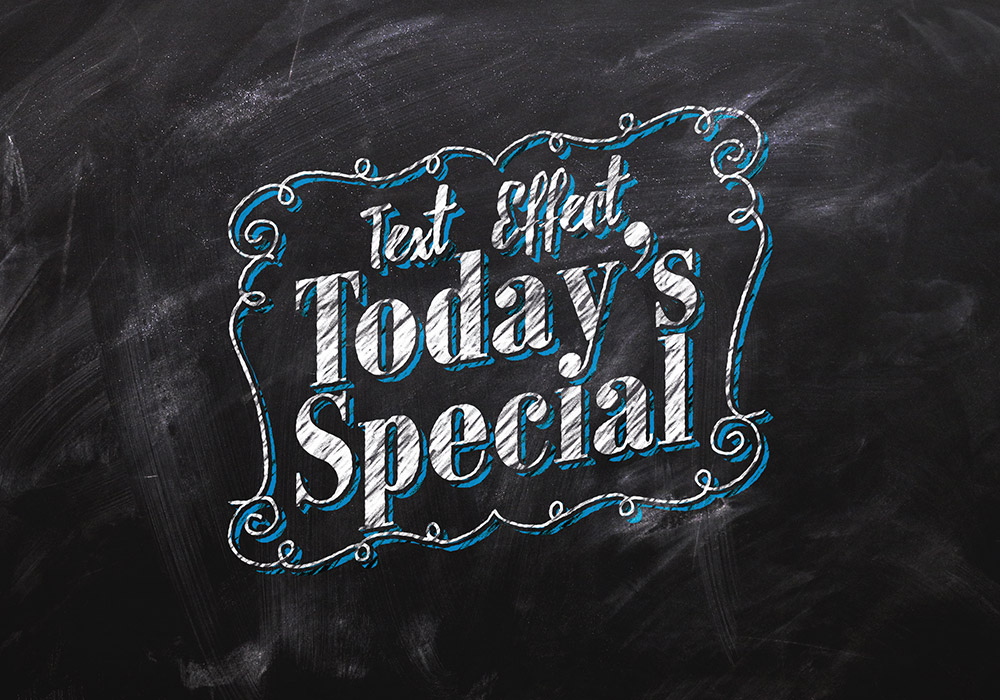 Chalkboard Text Effect PSD