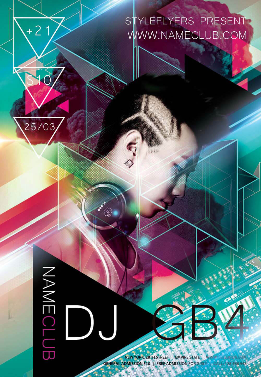 Nice Download Flyer. Dj PSD Flyer Template