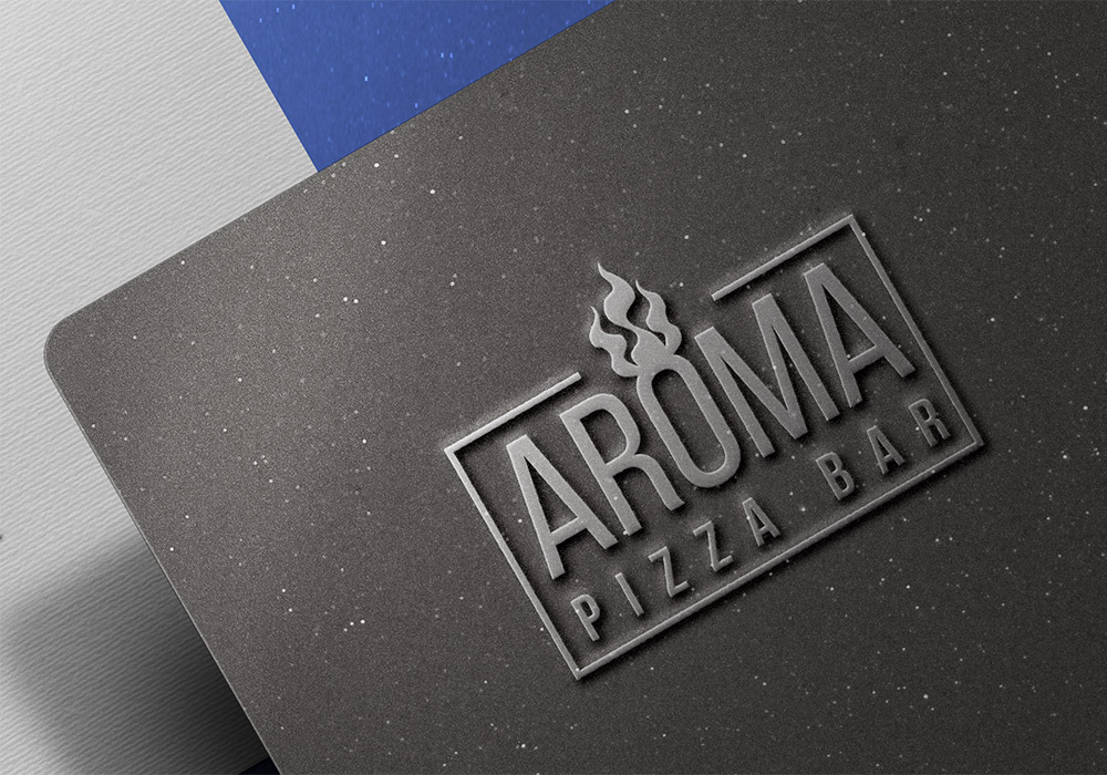 Embossed Metallic Logo Mockup