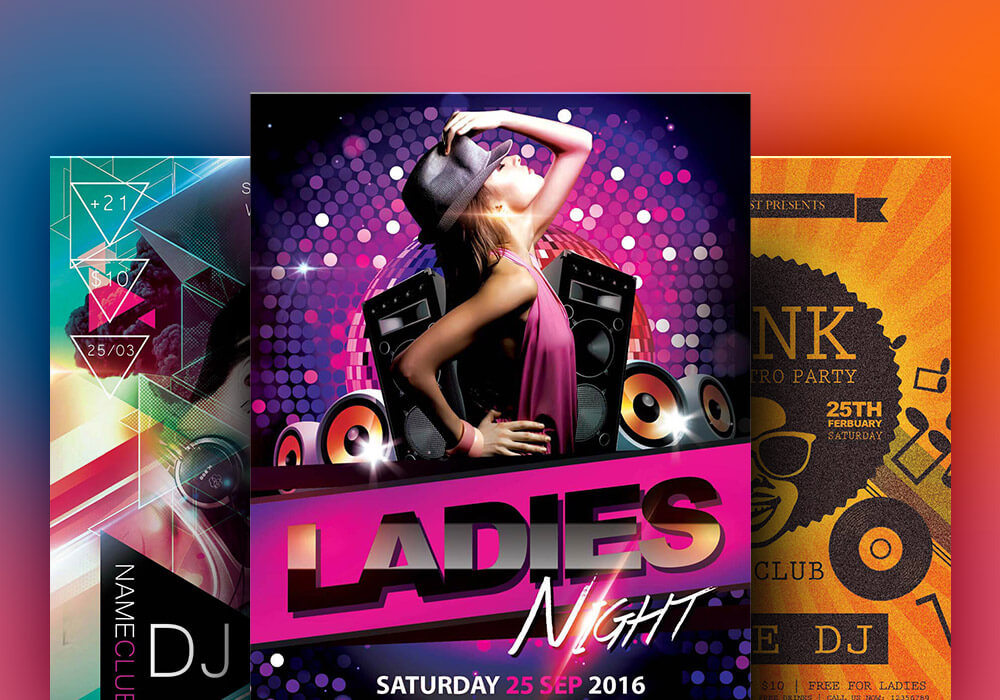 New Party Season Free PSD Flyer Templates