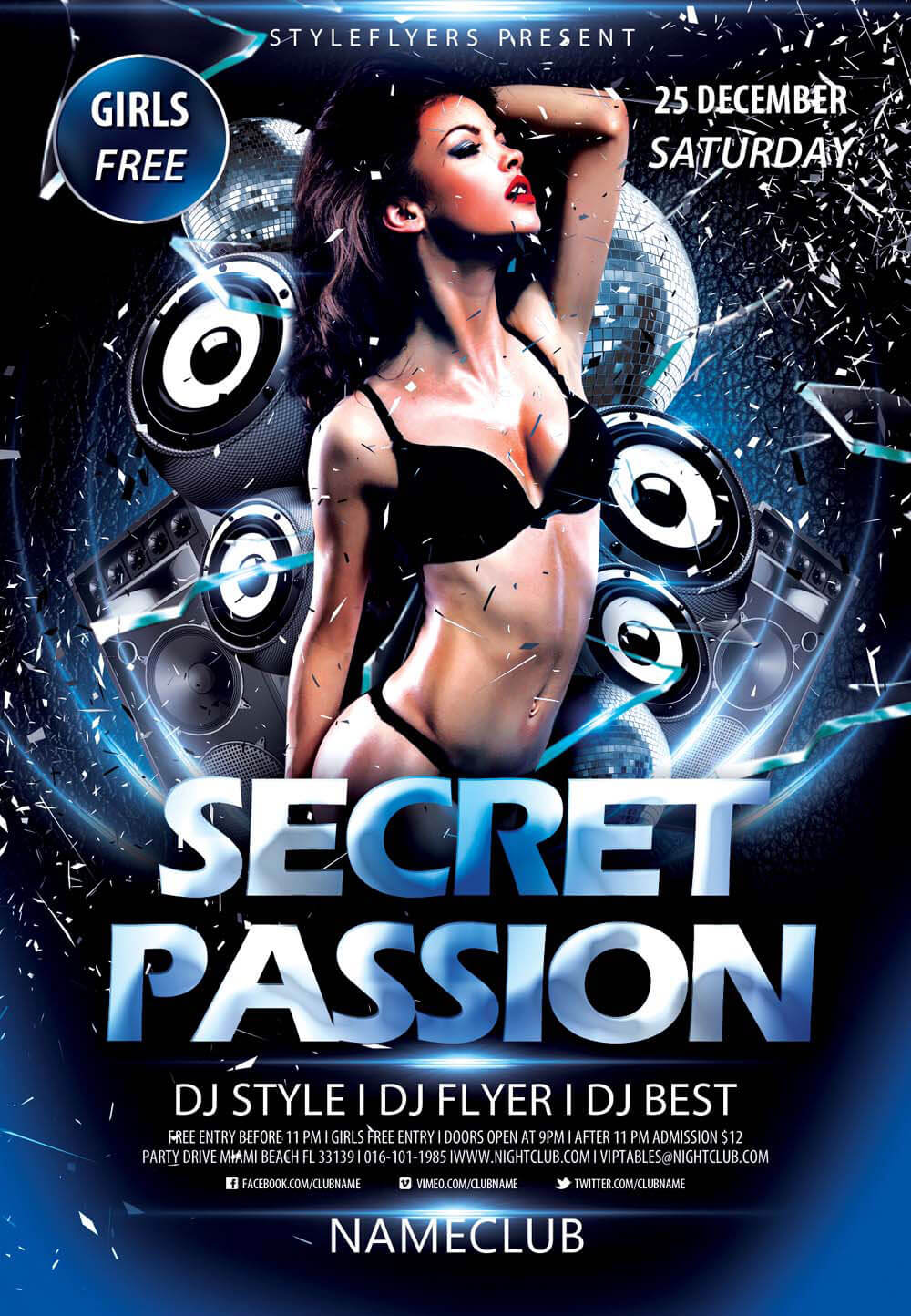 download flyer secret passion psd flyer template - Free Psd Flyer Templates