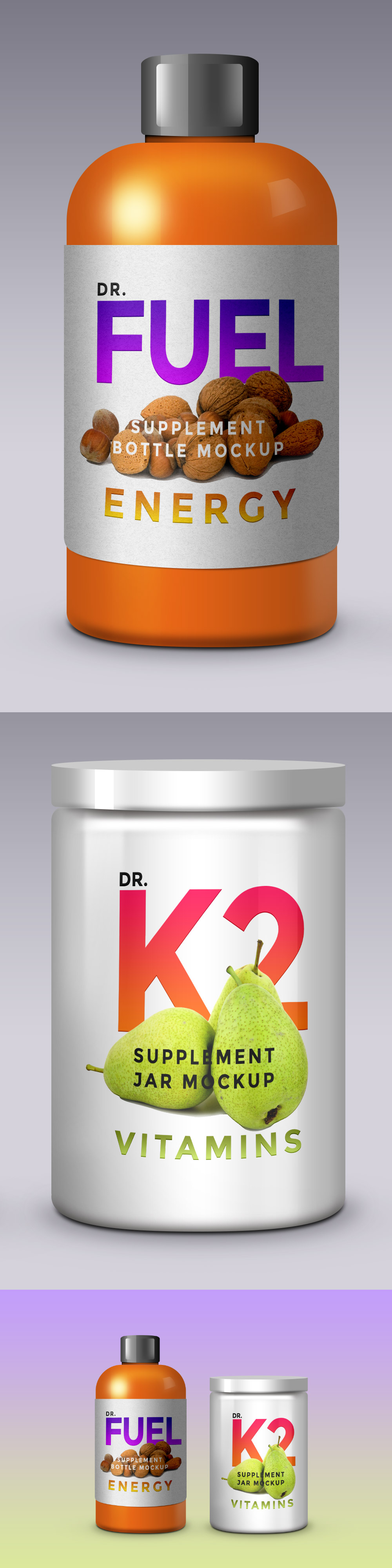 Supplement Product Packaging Mockups-PSD