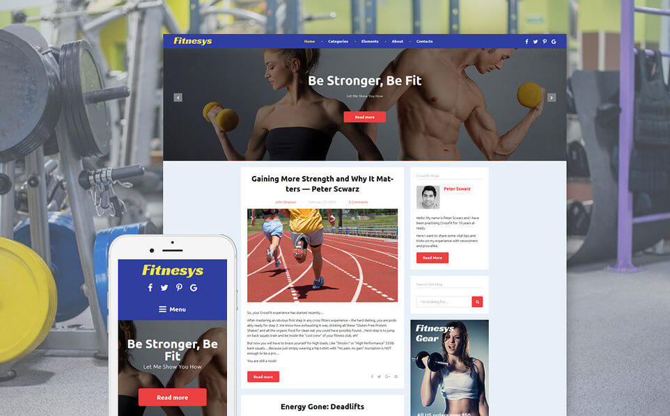 Fitness Blog WordPress Theme