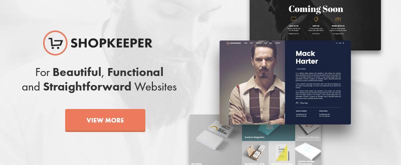 Shopkeeper WP Theme
