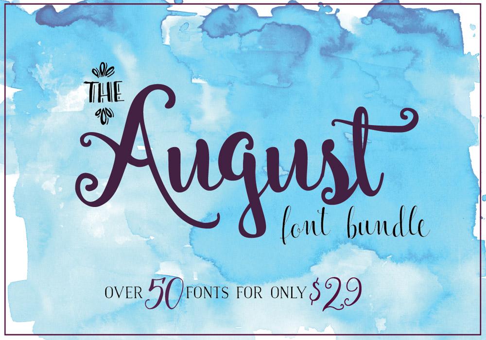 August Fonts Bundle