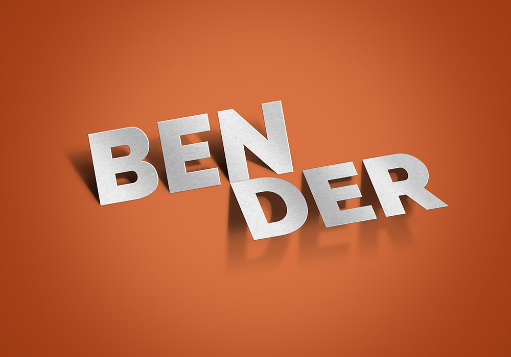 Bender Text Effect PSD