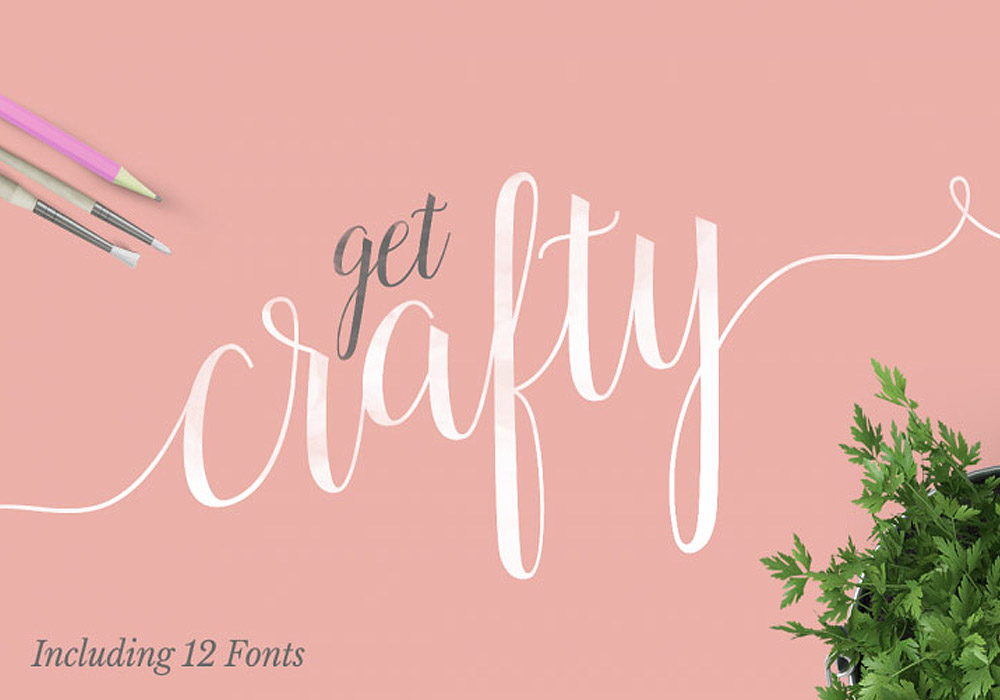 Crafty Fonts Bundle