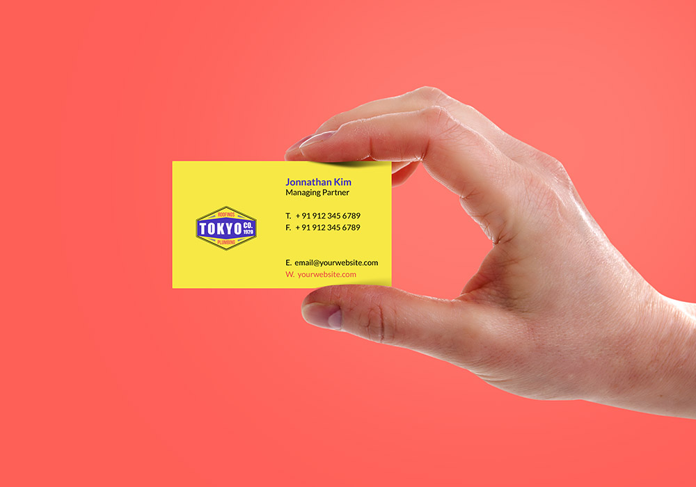 Hand Holding Business Card Mockup PSD - GraphicsFuel