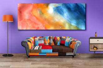 Living Room Wall Art Mockup PSDs