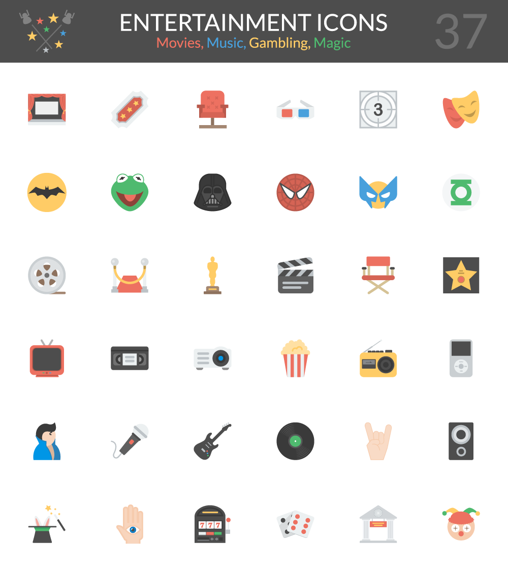 Entertainment Icons Pack