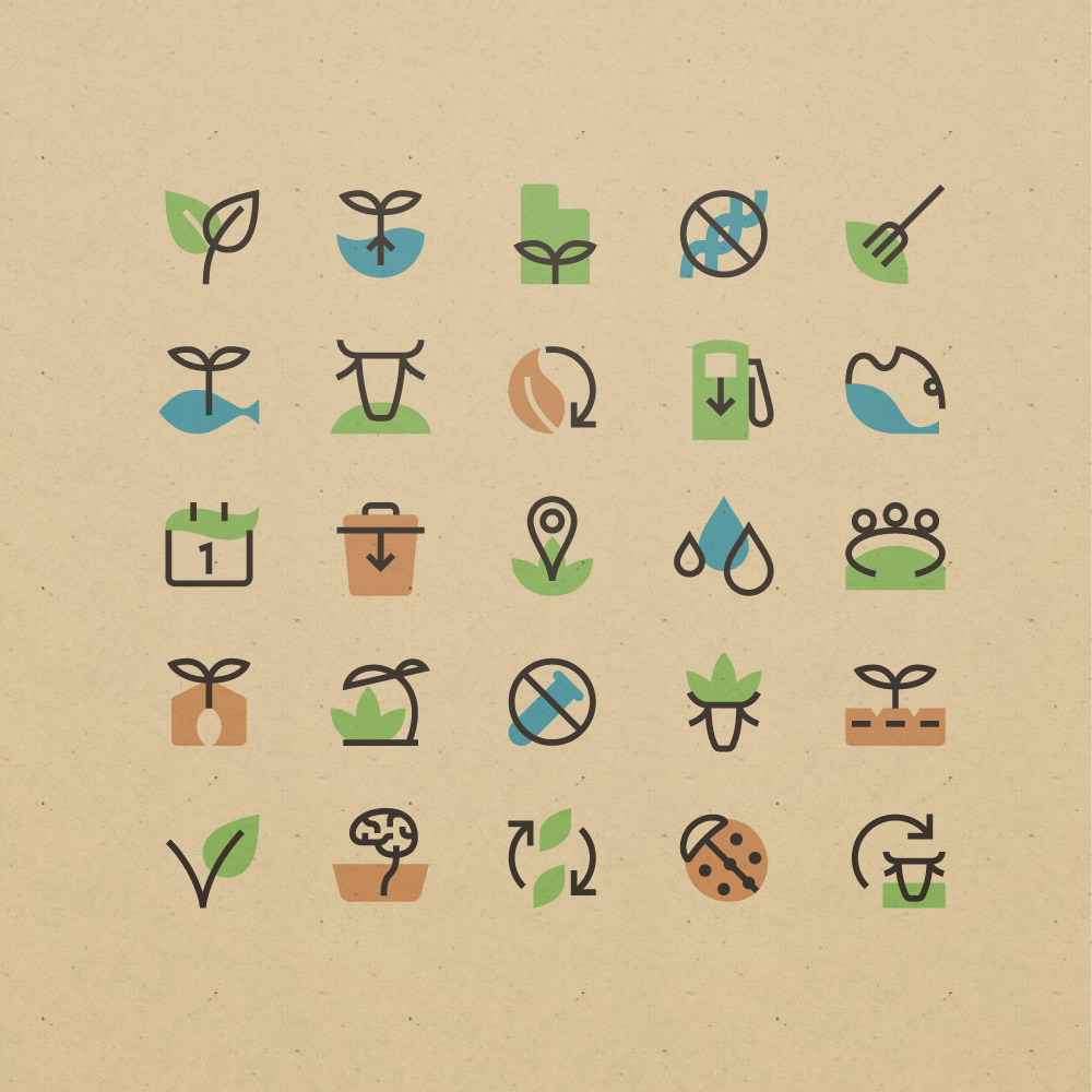 Sustainable Food Production Icons