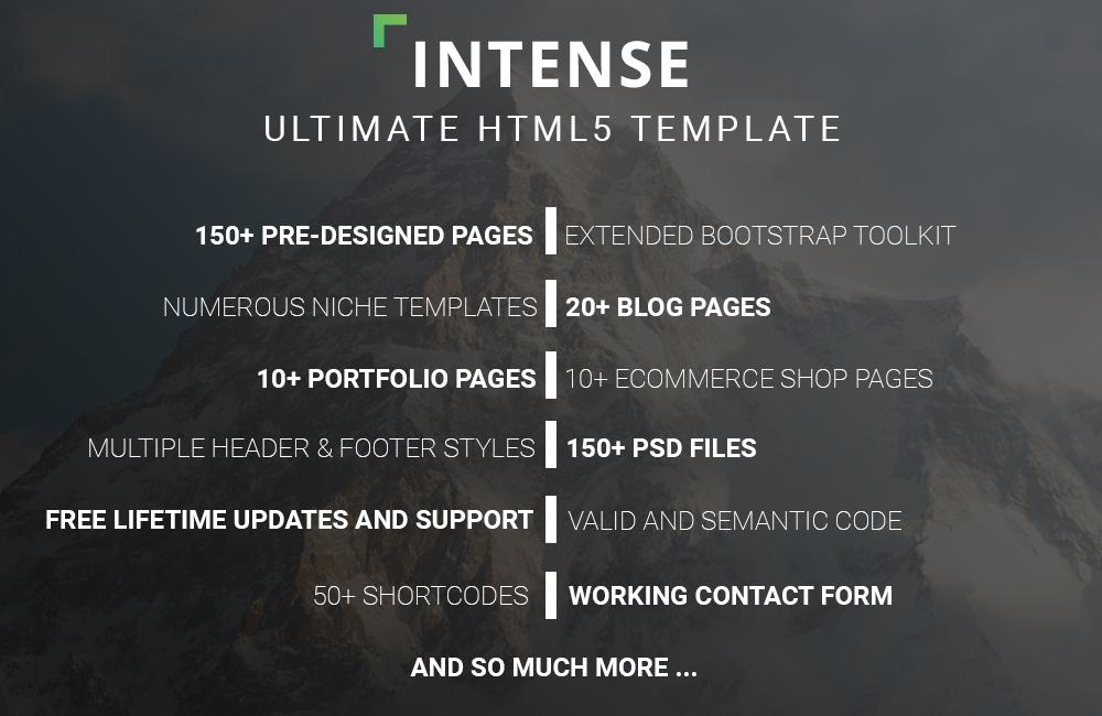 Intense HTML5 Website Features