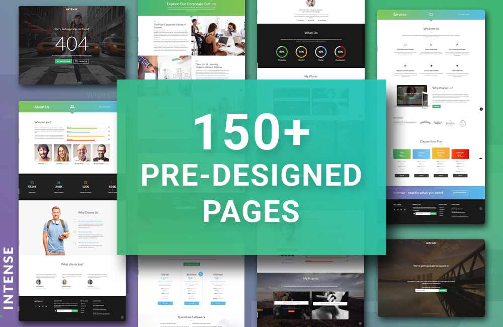 Intense Pre-Designed Pages