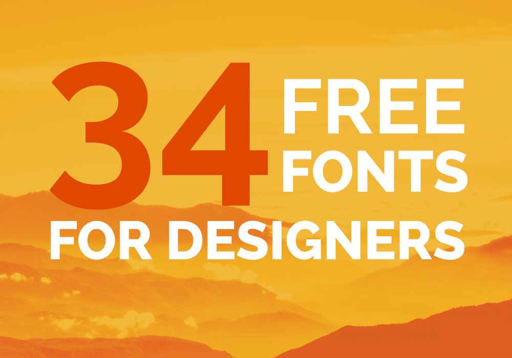 34 Cool And Free Fonts For Designers