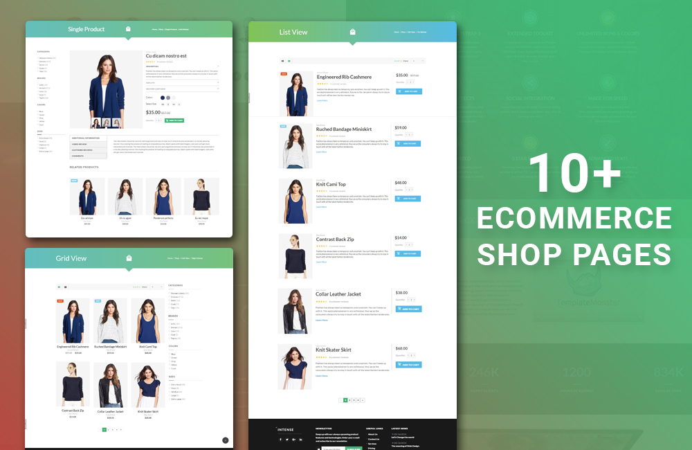 Intense Ecommerce Pages