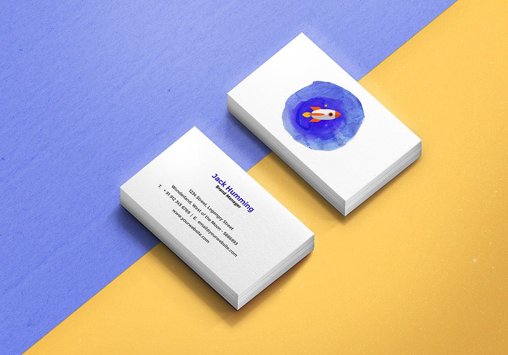 Business card mockup template graphicsfuel reheart Images