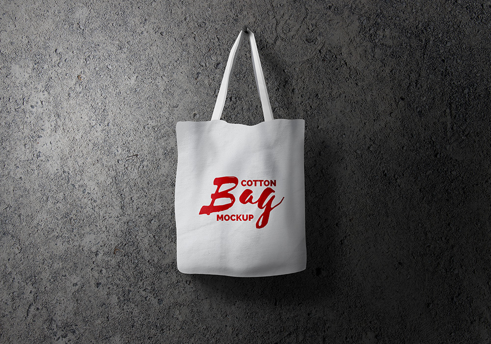 Cotton Bag Mockup PSD