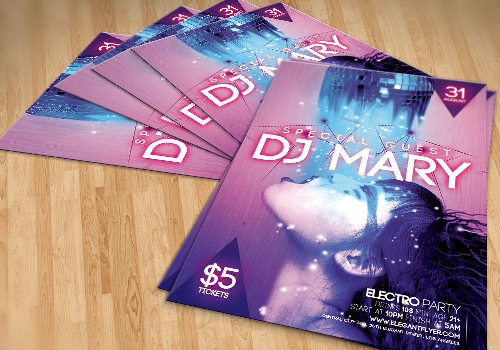 DJ Guest Flyer PSD