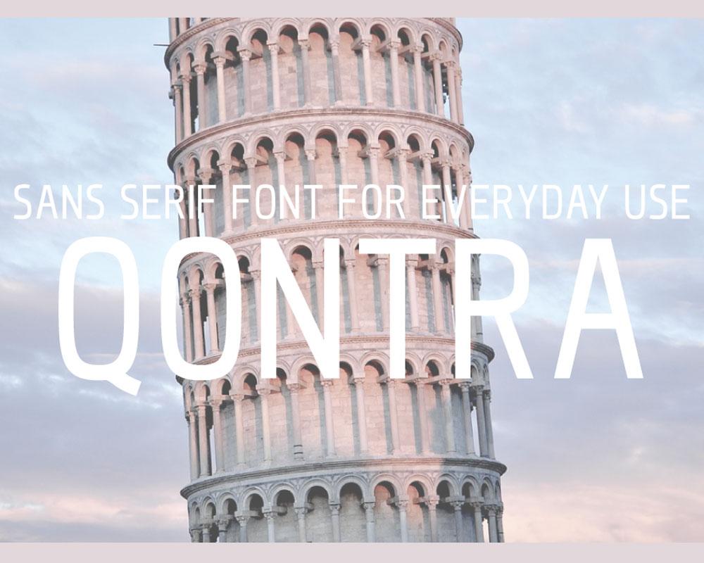 Qontra Sans Serif Font