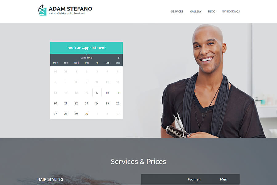 Business WordPress Theme for a Hair and Make Up Expert