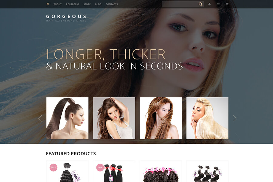 Hair Extensions WP Theme
