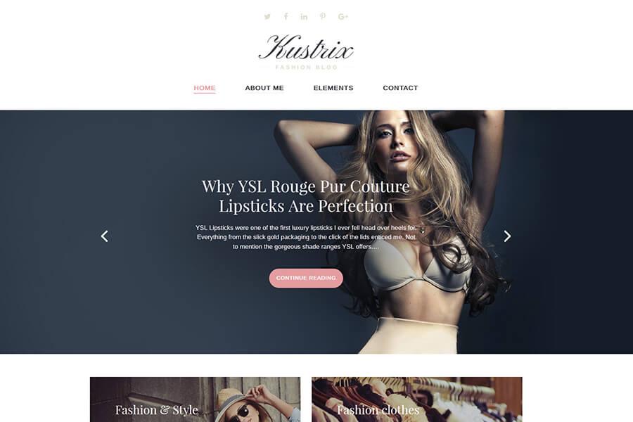 Kustrix - Fashion WordPress theme