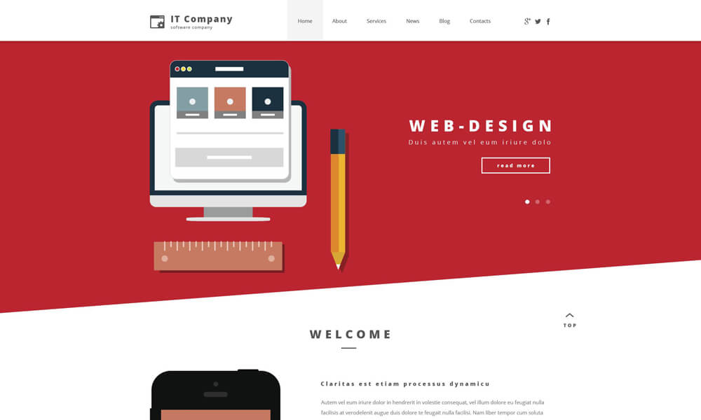 IT Company PSD Template