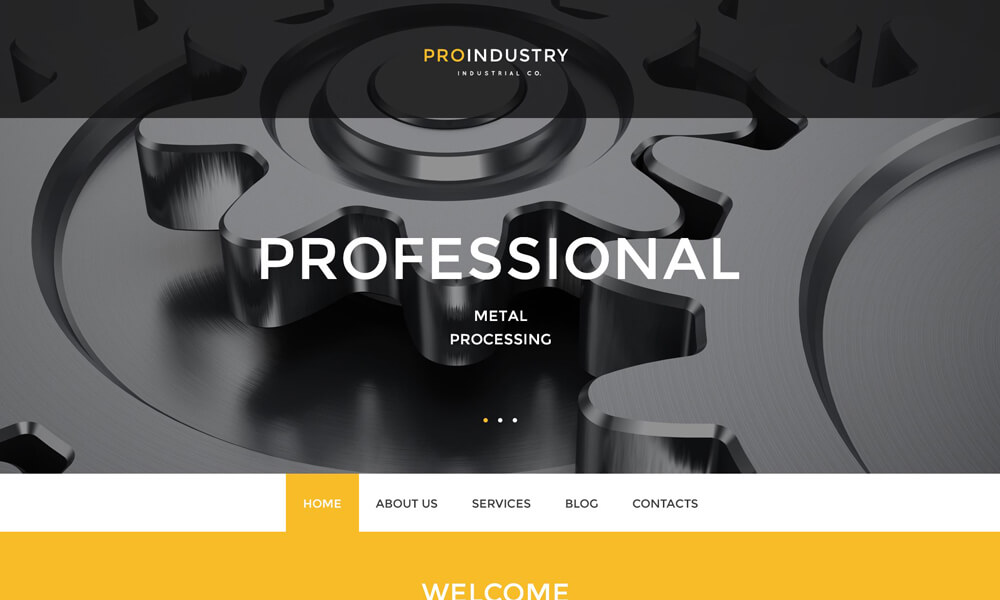 Pro Industry PSD Template
