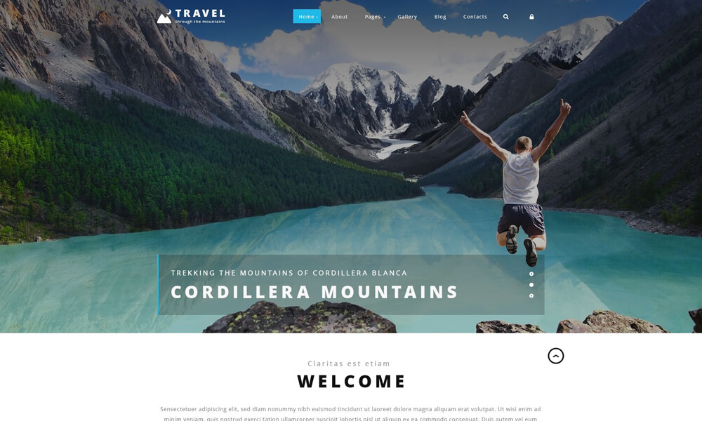 Travel PSD Template