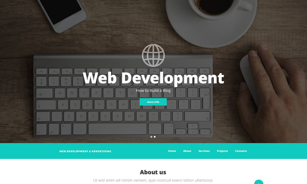 Web Developement PSD Template
