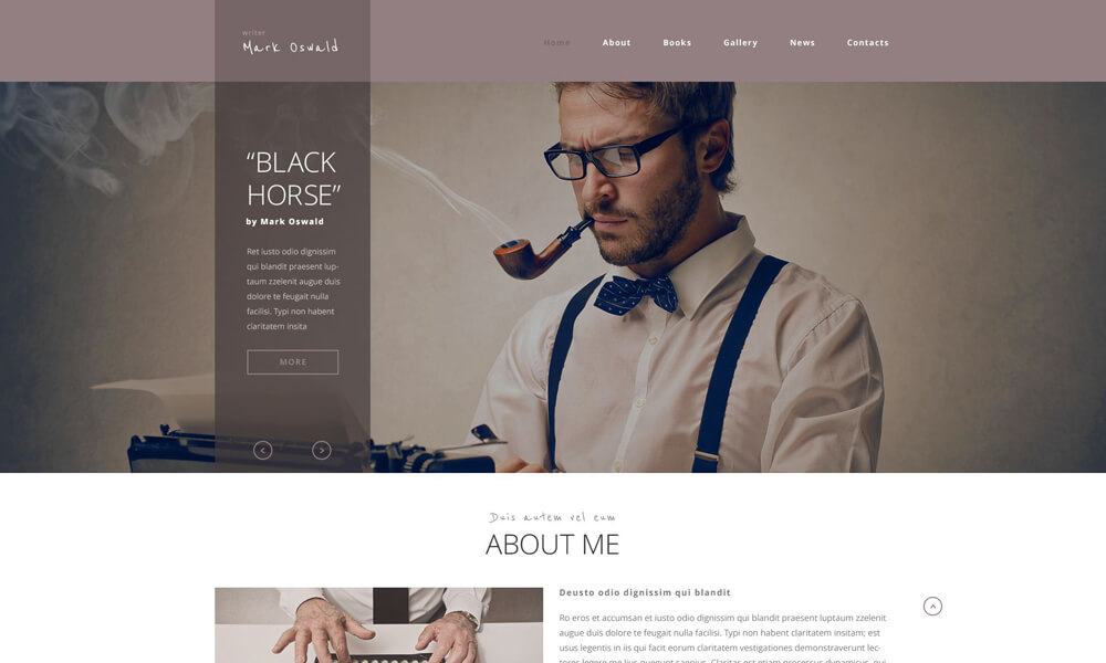 Writer PSD Template