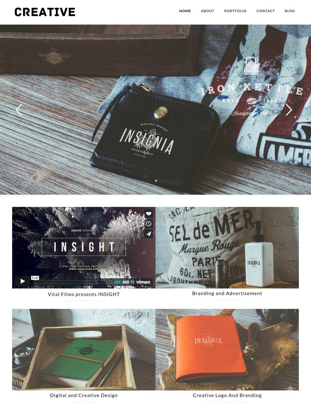 Creative Portfolio WordPress Theme for designers