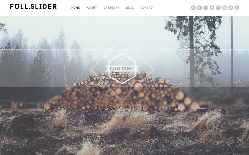Full Slider WordPress Theme