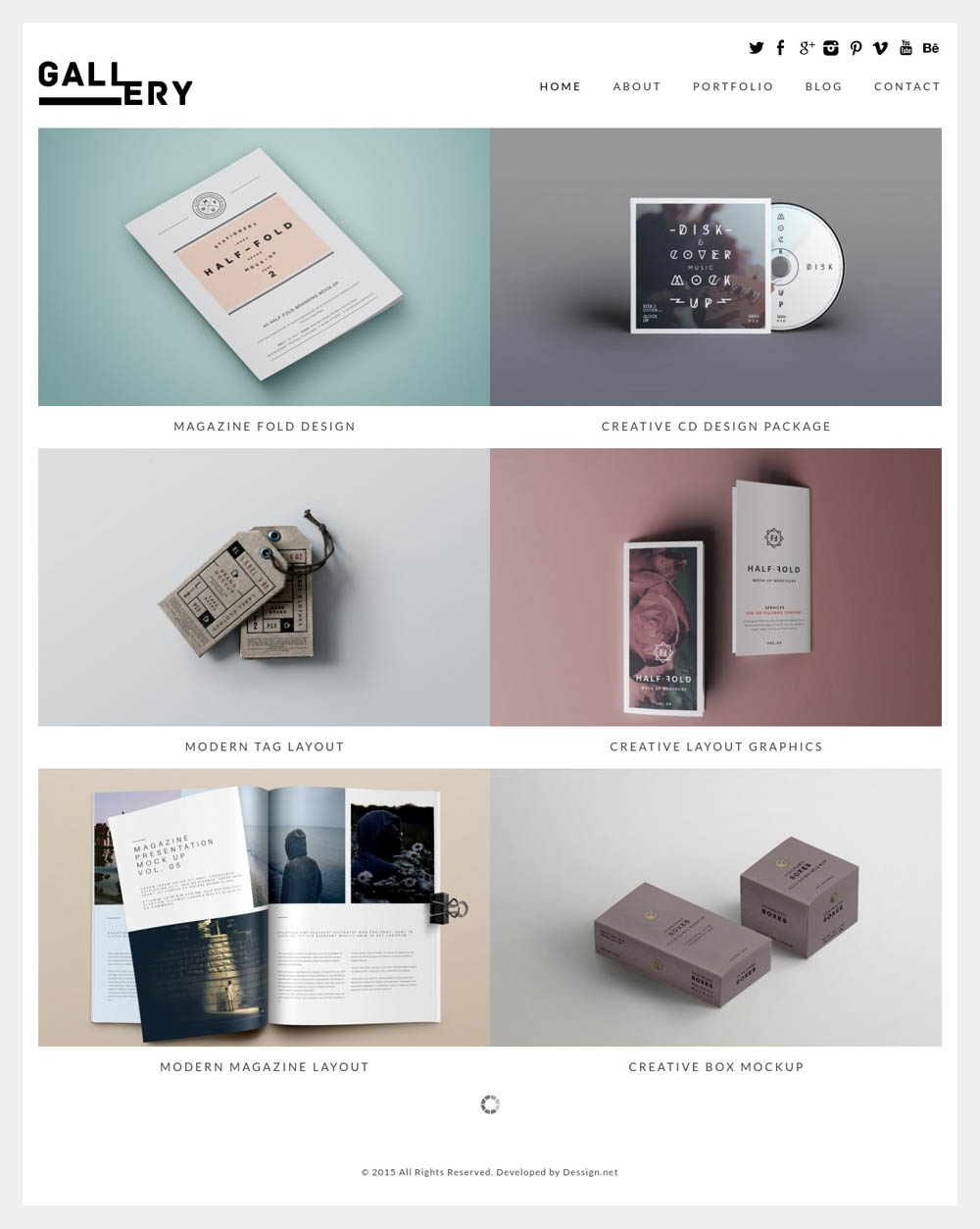 Gallery WordPress Theme for designers