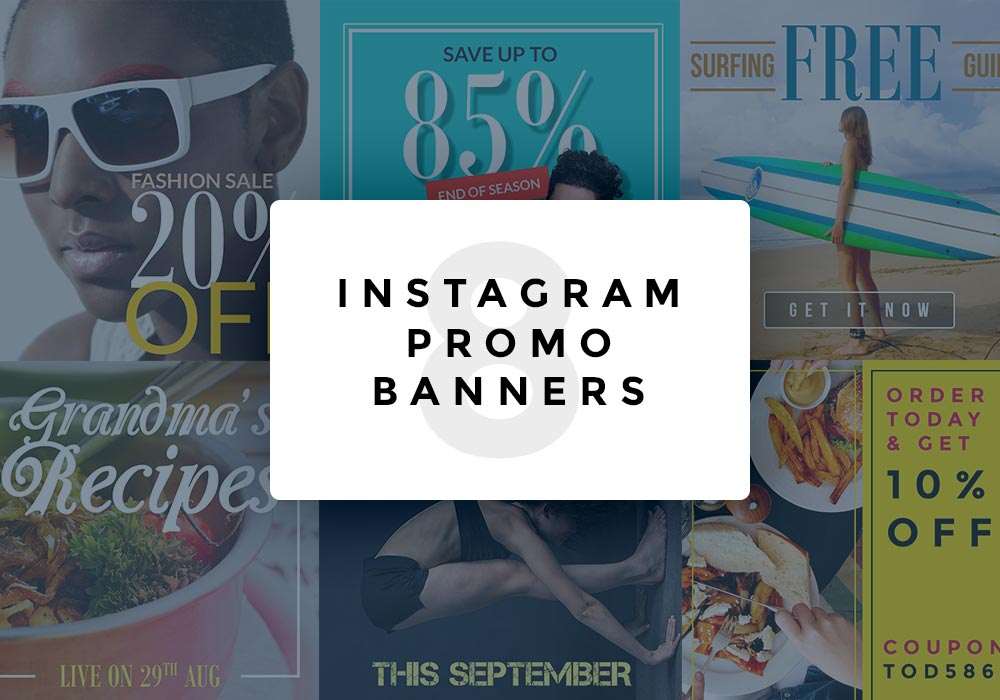 Instagram Promo Banner PSD Templates