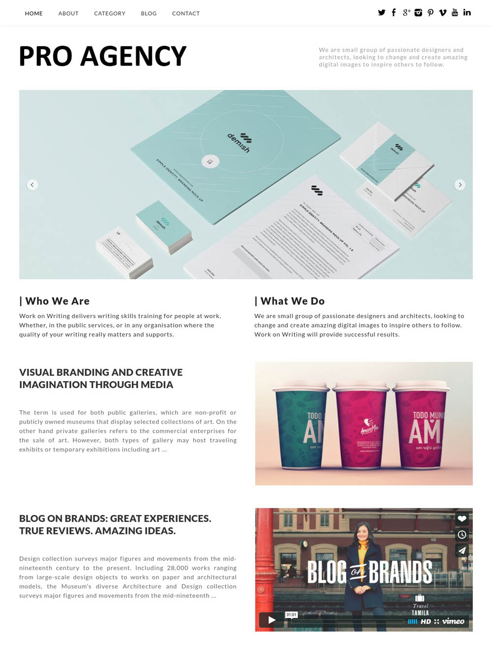Pro Agency WordPress Theme for designers