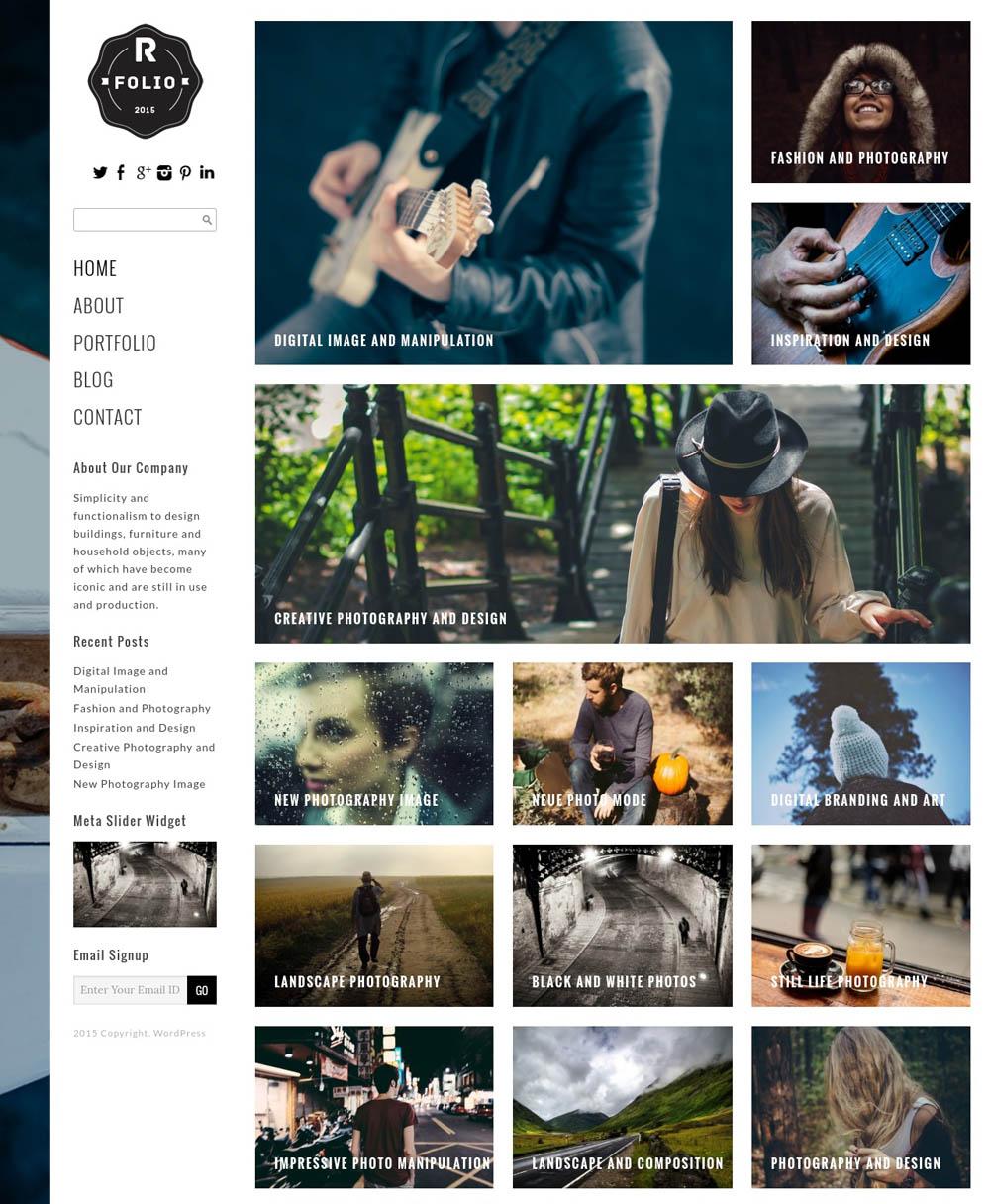 Right Folio WordPress Theme for designers