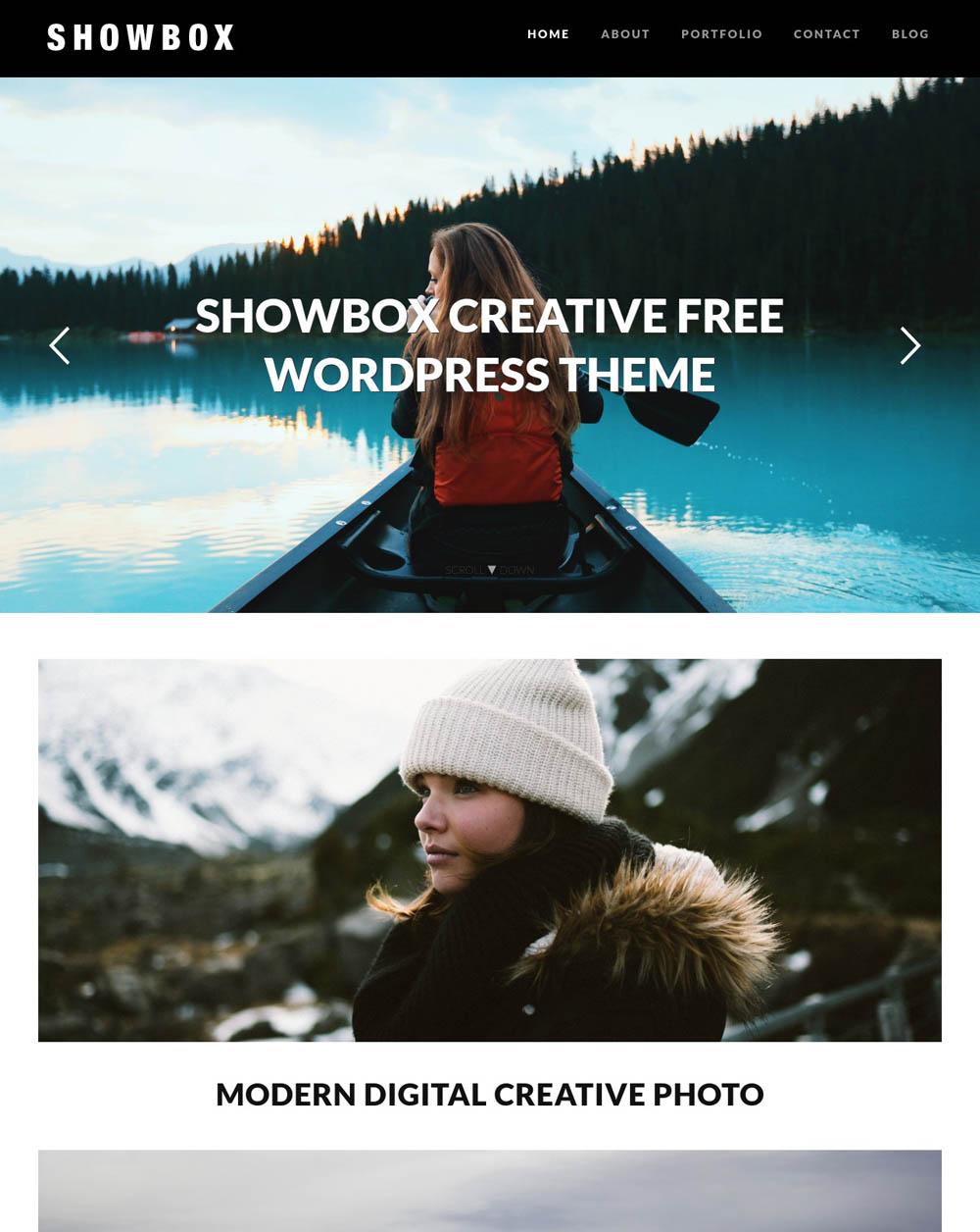 Showbox WordPress Theme for designers
