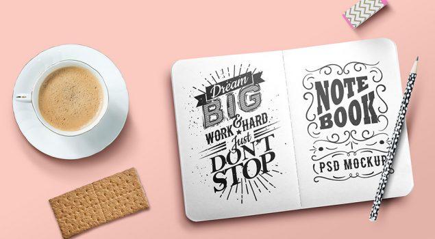 Sketchbook Mockup PSD