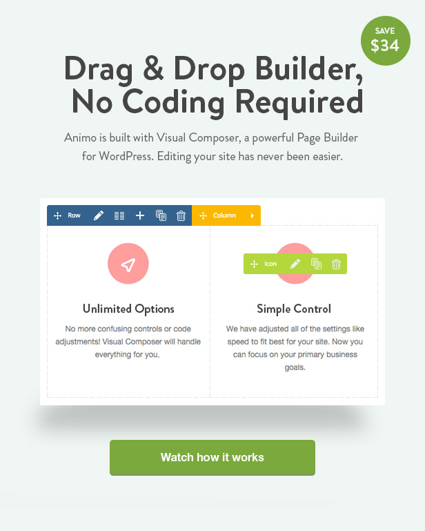 Animo Drag and Drop Builder