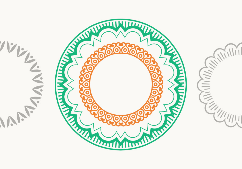 Decorative Round Frames Vector Pack
